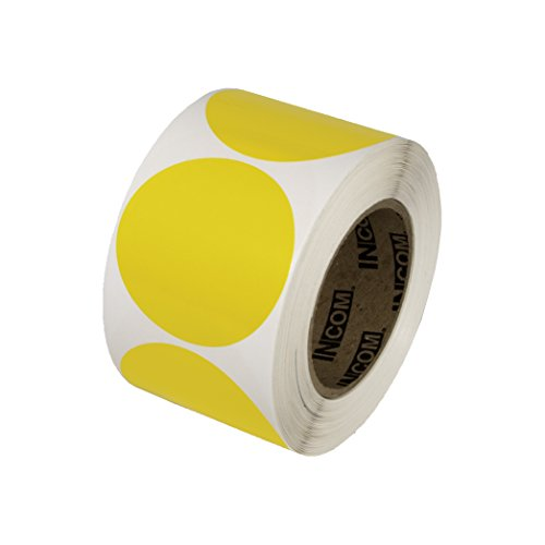 Incom Manufacturing: 3'' Vinyl Dots, Yellow (Roll of 500) by Incom