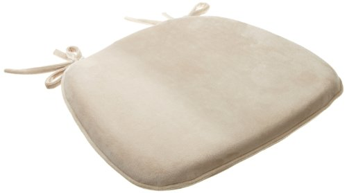 Brentwood Plush Memory Foam Chairpad, Tan (Chair Brentwood Cushions)