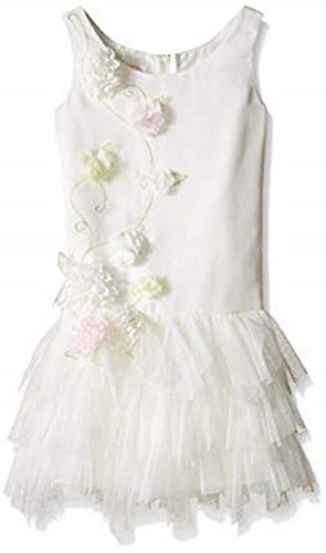 Biscotti Girls' Wedding Belles Multi Flower Dress, Ivory