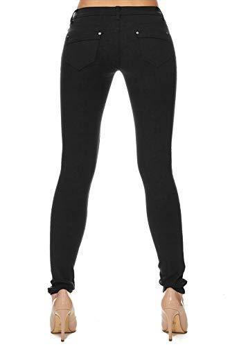 Hosen Hipsters Tubo Jeans Arizonashopping Skinny Donna D1701 Nero Tubi Treggings 4dHdCwq