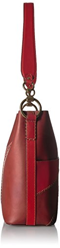 Leather Multi Clay Red Bag Bucket FRYE Hobo Color Ilana Block qZF14