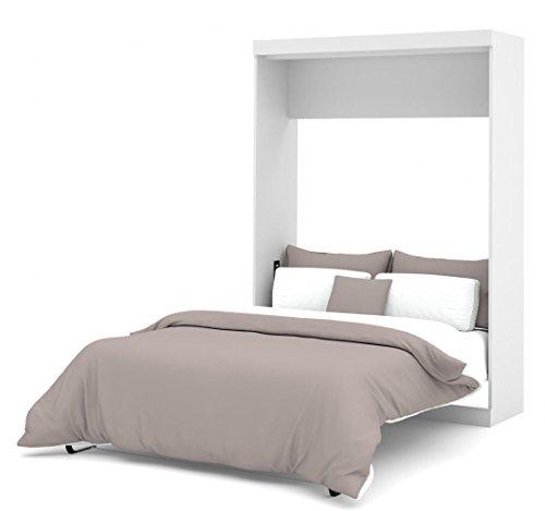 Bestar Nebula Full Wall Bed Full Mattress Included - White