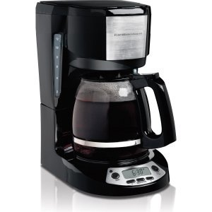 Hamilton Beach 12 Cup Coffeemaker with Programmable Clock (49615) - Yes - 12 Cup(s) - Black - Stainless Steel - 49615