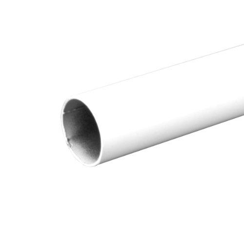 John Sterling 0015-8WT Heavy Duty Closet Pole Rod, 96-Inch, White (Steel Closet Rods)