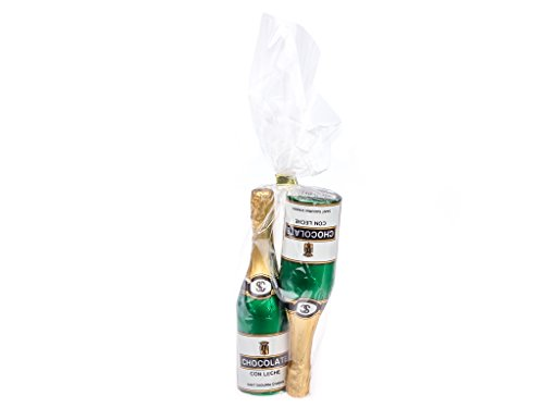 Simon Coll Chocolate Champagne Bottles Set 2 x 40g