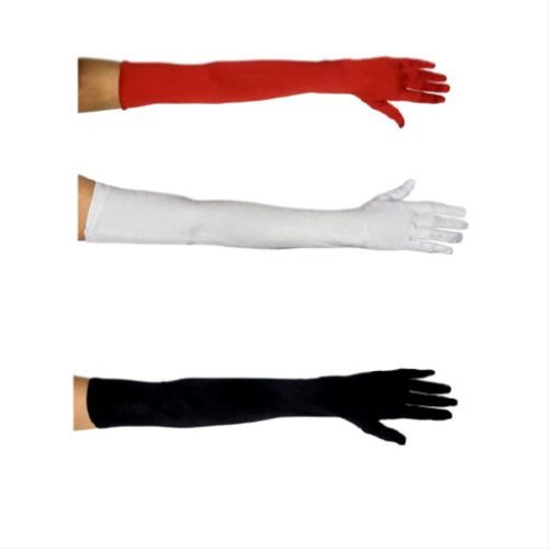 White Vinyl Gloves Costume (Spandex Gloves(WHITE,39CM))