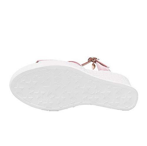 Agoolar Sandali Alto Donna Tacco Luccichio Gmmlb010715 Rosa Fibbia Puro vvrYxn