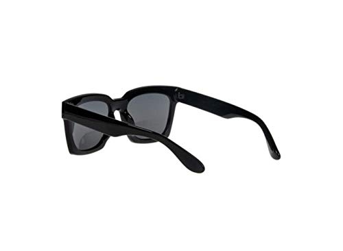 Sol Negro Gafas Gris liwenjun Súper De Polarizadas Gafas Pieza Espejo Conducción De De Retro Marco Gran Caja Negro Sol Sombra Moda PO1URxwPq