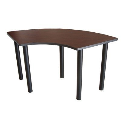 Boss 24-Inch D by 59-Inch W Training Table Crescent, Cherry by Boss Office Products