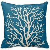 Polyester Decorative Throw Pillow Case Cushion Cover Coral T