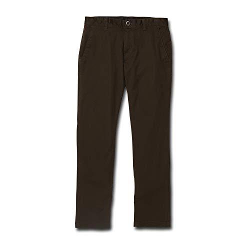 Volcom Men's Frickin Modern Fit Stretch Chino Pant, Dark Chocolate, - True Chino