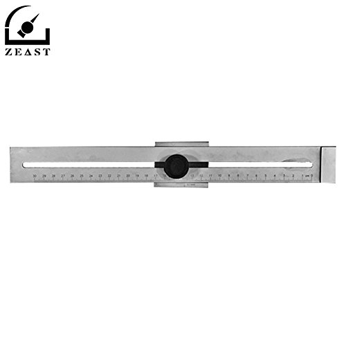 AMZVASO - Stainless Steel Marking Gauge 0-300MM 0.1MM Woodworking Measuring Tool Mortising and Tenoning Machine Accessorie