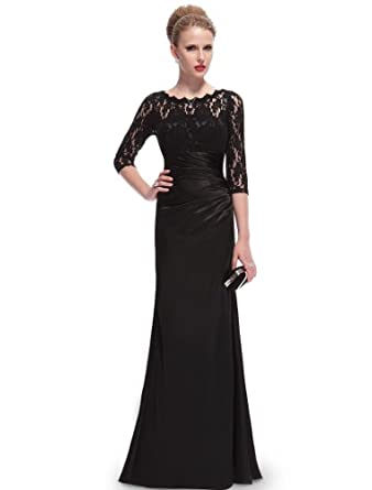 Long black evening dresses uk
