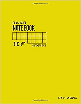 graph paper notebook 8 5 x 11 1 cm squares yellow smart design