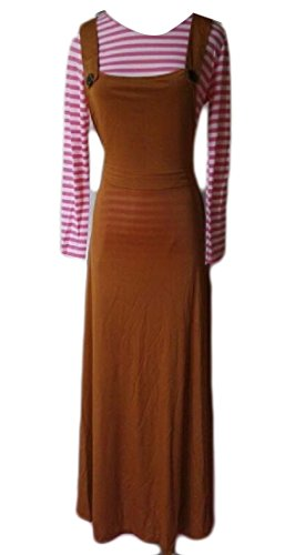 Coolred-femmes Musulmanes Débardeurs Cami Costume Robe Abaya Robe Palangre Café