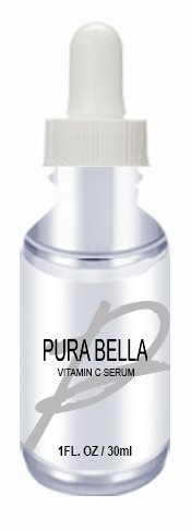 Pura Bella Vitamin C Serum-Best Vitamin C Serum for Face- Organic Anti-Aging Topical Facial Serum with Hyaluronic Acid
