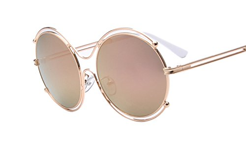 metal round frame g hollow double circle sunglasses 咿 ladies glasses Luo sunglasses 1618 ()
