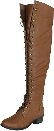Breckelles Womens Alabama-12 Knee High Riding Boots
