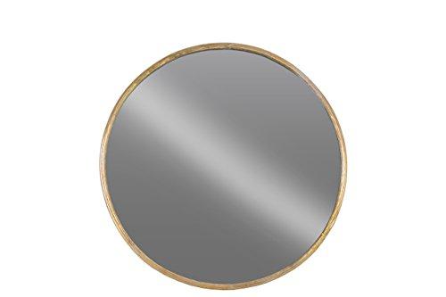 Urban Trends 67096 Metal Round Wall Mirror SM Tarnished Gold Finish - Item Type: figurine Item material: metal Item finish: tarnished finish - bathroom-mirrors, bathroom-accessories, bathroom - 31JTqgyZXdL -