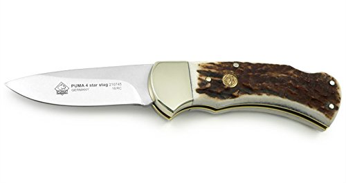 Puma 4-Star Stag German Made Folding Hunting Knife