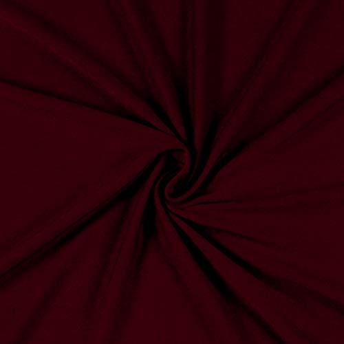 (TELIO 0362214 Stretch Bamboo Rayon Jersey Knit Dark Rust Fabric by The Yard,)