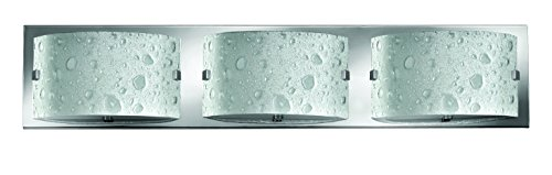 Hinkley 5923CM Contemporary Modern Three Light Bath from Daphne collection in Chrome, Pol. Nckl.finish,