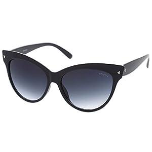 Oversize Vintage Mod Womens Fashion Cat Eye Sunglasses (Black) 59mm