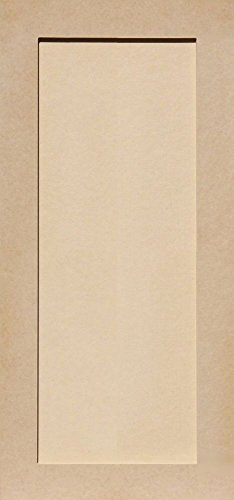 (Unfinished Shaker Cabinet Doors in MDF by Kendor, 30H x 14W)