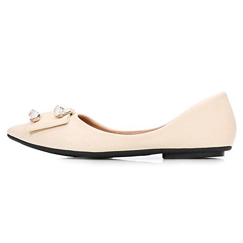 Shoes Soft fereshte Front Rhinestone Women's 639apricot Flat