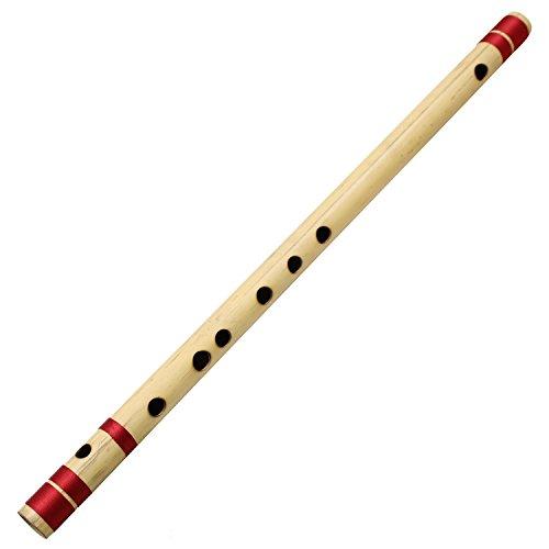 Indian Bansuri Flute Bamboo Transverse, Key-C#, 18 Inches...