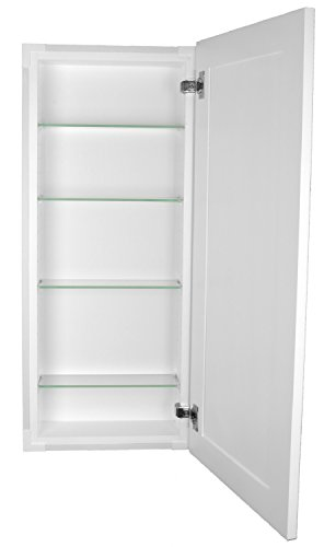 Shaker Style Bathroom Cabinets - WG Wood Products FR-234-WHITE Shaker Style Frameless Recessed in Wall Bathroom Medicine Storage Cabinet-Multiple Finishes, 14 X 34, White