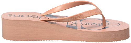 Femme Tesse Jelly 000 Klein Calvin Mules Jeans Chaussons Rose dsk EwaCYFq