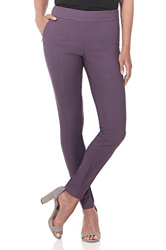 (Rekucci Women's Ease in to Comfort Modern Stretch Skinny Pant w/Tummy Control (6,Mauve))