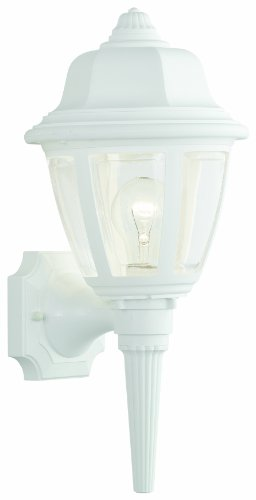 Bellacor Plastic Sconce - Thomas Lighting SL94428 Outdoor Wall Sconce, Matte White