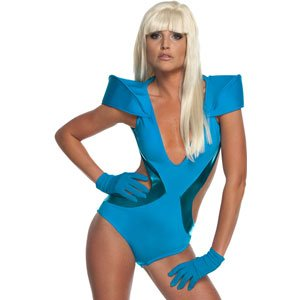 Lady Gaga Blue Swimsuit - Standard - Dress Size - Halloween Gaga Lady