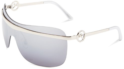 Rocawear Women's R390 SLV Shield Sunglasses,Silver Frame/Gradient Brown Lens,one - Glasses Rocawear