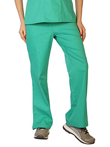LifeThreads Classic Collection Women's Elastic Back Scrub Pant Jade Green XST