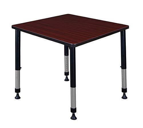 Regency A-KTHA3030RWBK Kitt Height Adjustable Square Classroom Table, 30