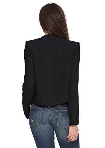 Tailleur Collo Giacca Ufficio Nero Camicia Coreana Giacche Stlie Fit Business Autunno Lunga Cappotto Monocromo Blazer Da Primaverile Donna Manica Fashion Eleganti Moda Corto Casual Grazioso Slim 5q5XAPr