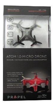 Propel Atom 1.0 Micro Drone Wireless Quadrocopter - Silver