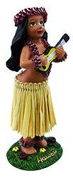 KC Hawaii Girl with Ukulele Mini Dashboard Doll 4 inch