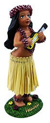 KC Hawaii Girl with Ukulele Mini Dashboard Doll 4""
