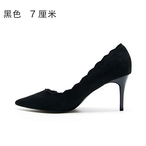 Y Flyrcx Otoño En Invierno Zapatos Lady's B Talón E Sharp El wFw07T
