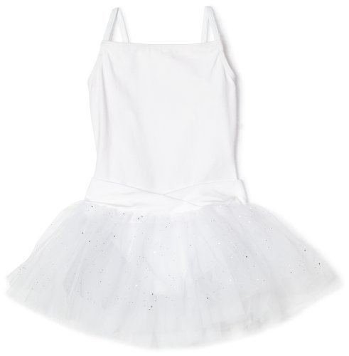 Capezio Big Girls' Camisole Tutu Dress, White, L (12-14) (Dress Evening 2011)