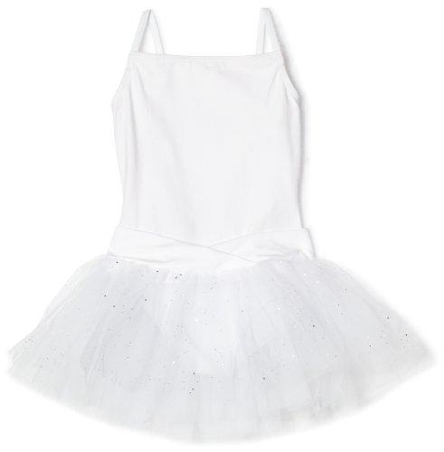 Capezio Big Girls' Camisole Tutu Dress, White, L (12-14)