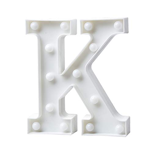 Zebery LED Light Up Letters, Warm White LED Letter Light Up Alphabet Letter Lights for Bachelorette Party Wedding Receptions Holiday Home & Bath Bridal Bar Décor ()