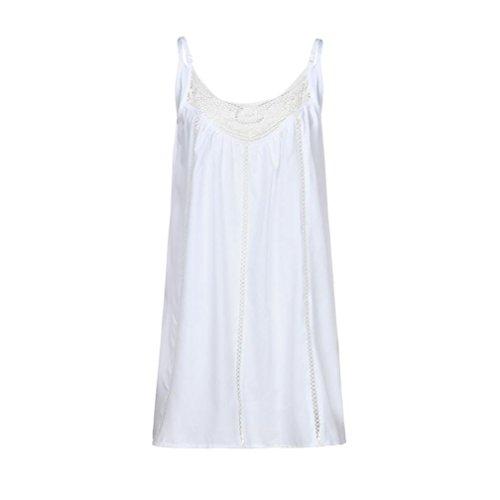 Plage Femmes Halter Soire Bohme Blanc Dentelle Patchwork en Paolian Maxi Robe Mousseline Mini wIXdpqpW
