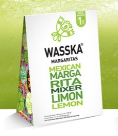 Wasska Mexican Margarita Mixer Limon 4.4oz 12 Pack by Wasska