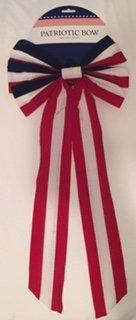 Patriotic 8 In. Cloth Bow, 2 Pk