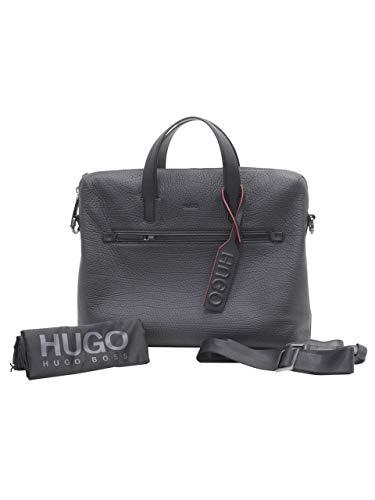 HUGO by Hugo Boss Men's Victorian Leather Single Document Case, black, One Size from Hugo Boss